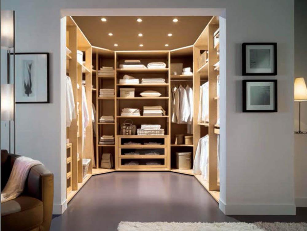 Дизайны встроенных гардеробных комнат